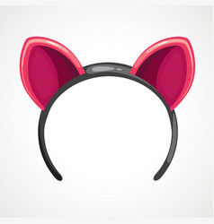 cartoon hoop with pink ears vector image