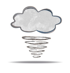 Climate cloud and hurricane vector