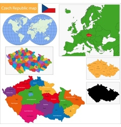 Czech Republic map vector image vector image