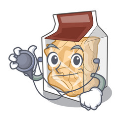 doctor pork rinds isolated in cartoon vector image