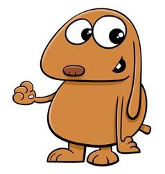Dog cartoon character vector