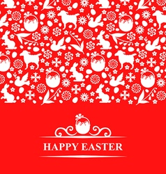 easter pattern card vector image