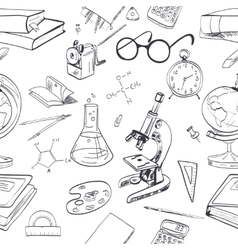 Education icon doodle seamless vector image
