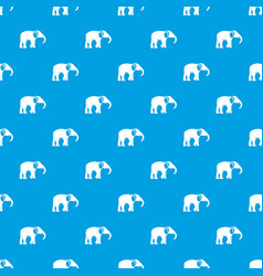 elephant pattern seamless blue vector image