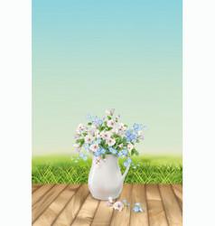floral landscape vector image