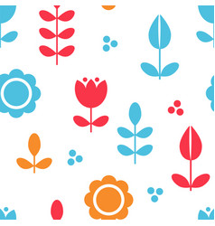 floral pattern surface design scandinavian style vector image