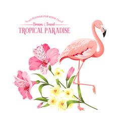 flower paradise summer vector image