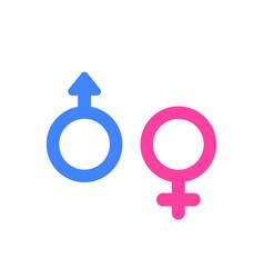 Gender icons on white vector
