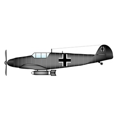 German ww2 fighter vector