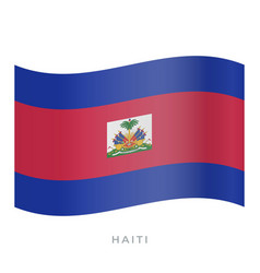 haiti waving flag icon vector image