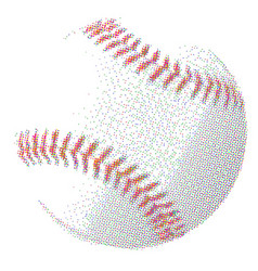 Half tone baseball vector