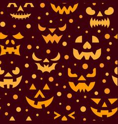 halloween horror face seamless pattern vector image