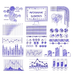 Hand drawn info graphics vector