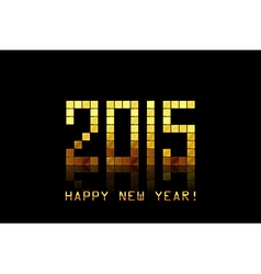 - Happy New Year 2015 - with golden numbers vector image