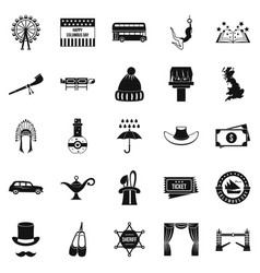 head protection icons set simple style vector image