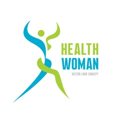 Health woman - logo concept vector