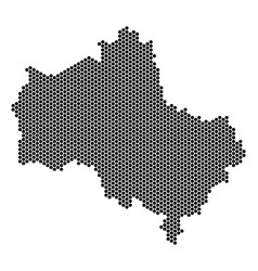 Hex tile moscow oblast map vector