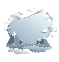 high mountain peaks range scenic landscape of vector image