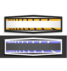 Horizontal futuristic labels vector