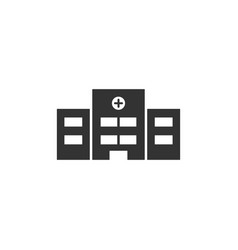 Hospital icon on a white background vector