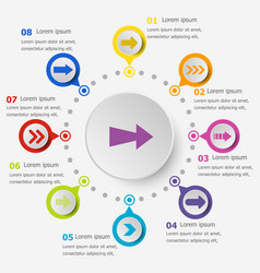 infographic template with arrow icons vector image