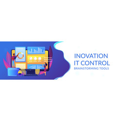 Innovation management software concept banner vector