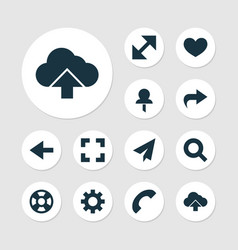 Interface icons set collection of backward vector