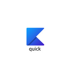 Letter k logo paper flip design concept creative vector