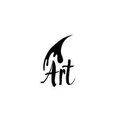 lettering logo design for art company vector image