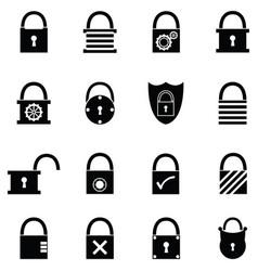 Lock icon set vector