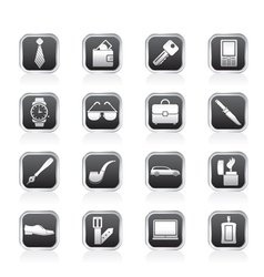 man accessories icons and objects vector image