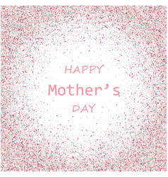 Mother s day card blue and pink paint vector