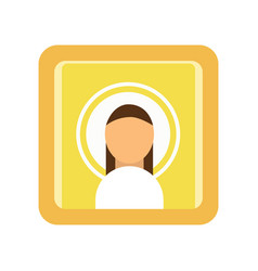 Painted icon of saint man religious work of art vector