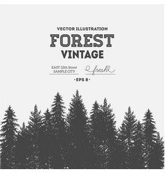 Pine forest journey design template vector
