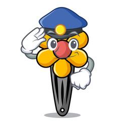 police hair clip character cartoon vector image
