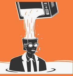 Propaganda media concept vector