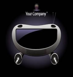 Radio console vector