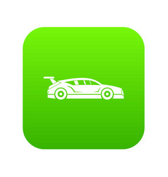 rally racing car icon digital green vector image