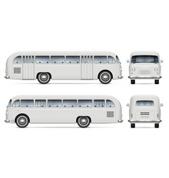 realistic old bus mockup vector image