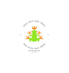 red eyed tree frog logo template vector image