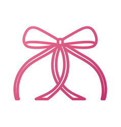 Ribbon bow ballet decoration ornament vector