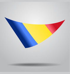 romanian flag background vector image