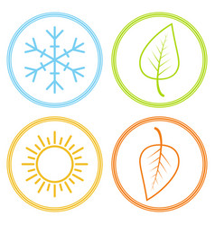 set icons season image season winter spring vector image