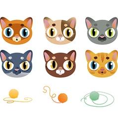 Set of cartoon cats vector image