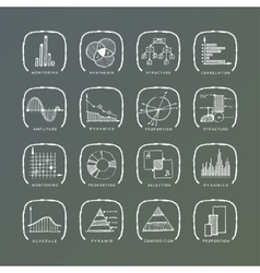 set of grunge web icons vector image