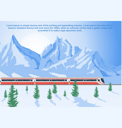 sightseeing train running in mountains vector image