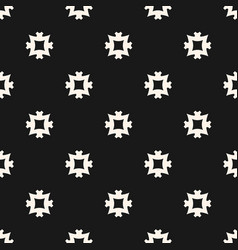 simple seamless pattern with square cross shapes vector image