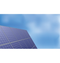 Solar panel over blue sky background vector