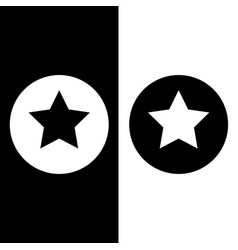 Stars in circle black and white vector