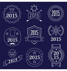 Typographic 2015 set vintage labels signs vector image